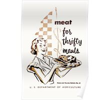 Meat! For Thrifty Meals Poster
