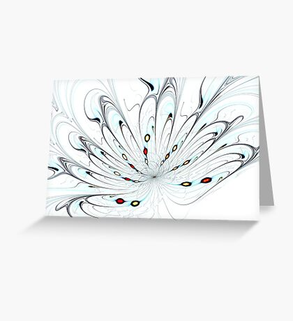 Flower Universe Greeting Card