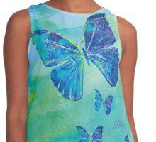 Blue Butterflies Watercolor by Jan Marvin Contrast Tank