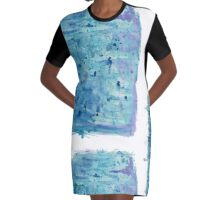 Gentle Hues Graphic T-Shirt Dress