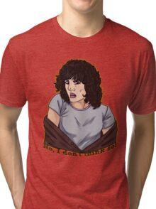 No, I don't think so! (Text vr.) Tri-blend T-Shirt