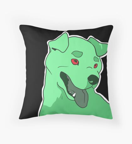 Dramatic Pit Bull in Mint Throw Pillow