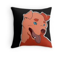 Dramatic Pit Bull in Red Throw Pillow