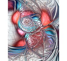 Red Glass Fish Photographic Print