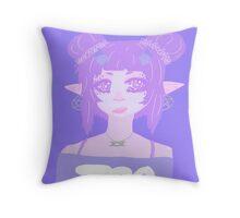 Lavender Demon Throw Pillow