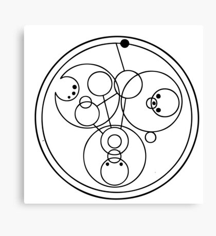 """Come along, Pond"" Translated into Gallifreyan Canvas Print"