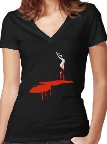 Dario Argento's Suspiria Women's Fitted V-Neck T-Shirt