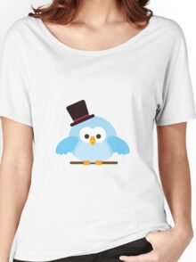 Cute Owl with Hat Women's Relaxed Fit T-Shirt