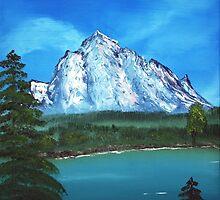 Mountain and Lake by Anastasiya Malakhova