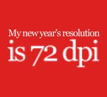 My new year's resolution is 72 dpi One Piece - Long Sleeve