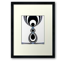 Zebra Jewels Framed Print