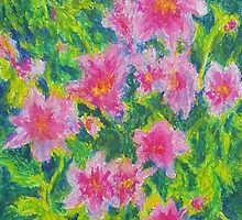 Happy Flowers (Pastel) by Niki Hilsabeck