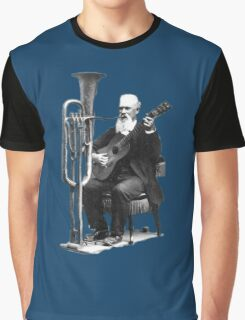 Vintage Music - Guitar & Tuba Graphic T-Shirt