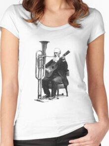 Vintage Music - Guitar & Tuba Women's Fitted Scoop T-Shirt