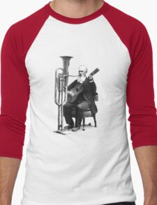 Vintage Music - Guitar & Tuba Men's Baseball ¾ T-Shirt