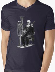 Vintage Music - Guitar & Tuba Mens V-Neck T-Shirt