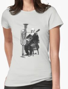 Vintage Music - Guitar & Tuba Womens Fitted T-Shirt