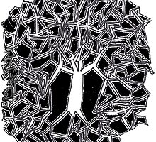 Twisty Tree in Midnight by Shawn McQuate