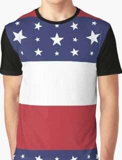 Women's Graphic T-Shirt Dress Patriotic Red White and Blue Graphic T-Shirt