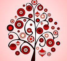 Red Ornaments by Anastasiya Malakhova