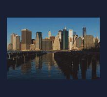 New York City Magic - Lower Manhattan Brilliant Reflections  Kids Tee