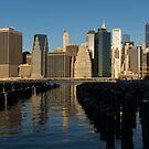 New York City Magic - Lower Manhattan Brilliant Reflections  by Georgia Mizuleva