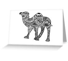 Hipster Camel- One Hump Greeting Card