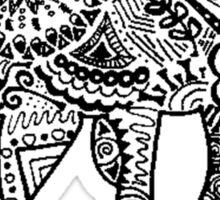 Hipster Camel- One Hump Sticker