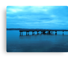 Old Fishing Dock Two Canvas Print