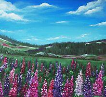Lupine Hills by Anastasiya Malakhova