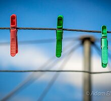 Pegs on the line. by Adam1965