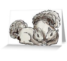 Squirrels: Nuts about you Greeting Card