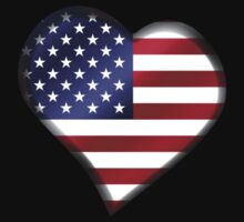 American Flag - USA - Heart by graphix