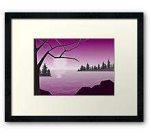 Purple Lake Framed Print
