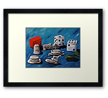 Game Pieces  Framed Print
