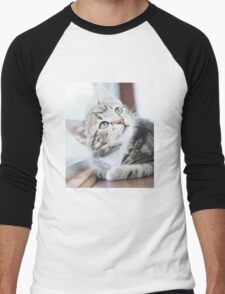 Tabby Kitten Men's Baseball ¾ T-Shirt