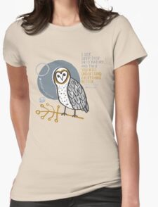 BioBlitz masked owl Womens Fitted T-Shirt
