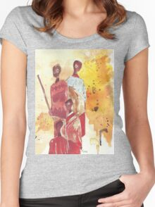 African Women - Ethnic series Women's Fitted Scoop T-Shirt