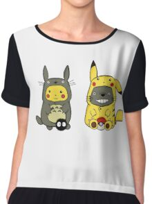 Totoro and Pikachu Onesies  Chiffon Top