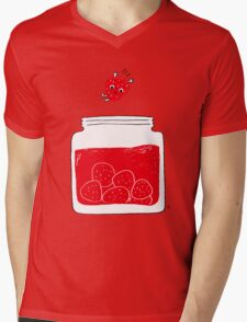 Strawberry jam Mens V-Neck T-Shirt
