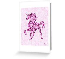 Pink Unicorn - Animal Art Greeting Card