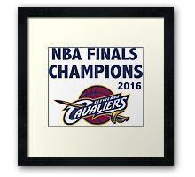 Cleveland Cavaliers 2016 NBA Champions vs. Golden State Warriors Framed Print