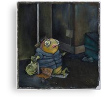 Homeless Fish Canvas Print