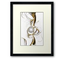 Gold and Pearl Framed Print
