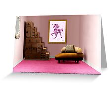 Interior Design Idea - Pink Unicorn - Animal Art Greeting Card