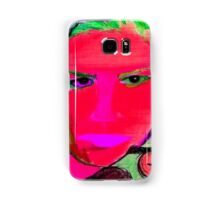 Hot Pink & Green Woman Face Drawing Phone Cases Samsung Galaxy Case/Skin