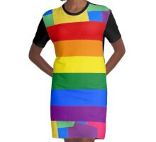 PRIDE Graphic T-Shirt Dress