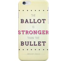 Ballots 'N Bullets iPhone Case/Skin