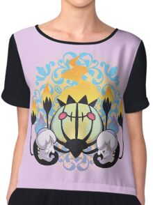 Ghost Hugs Chiffon Top