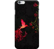 Scarlet Twilight Damask Hummingbird fantasy art iPhone Case/Skin